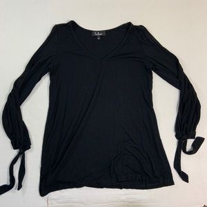 Lulus Long Sleeve Cold Shoulder Blouse Top L